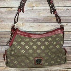 DOONEY & BOURKE Brown Red Shoulder Purse Handbag